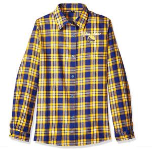 FOCO NBA Women's Golden State Warriors 2016 Wordmark Basic Flannel Shirt