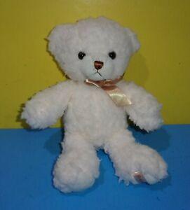 """Aurora Ashford Cream Teddy Bear 12"""" Sherpa Soft Bean Plush Toy Stuffed Animal a"""