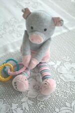Scentsy Baby Buddy Sidekick Pippy the Pig Newborn Nursery Plush Lovey Toy Gray