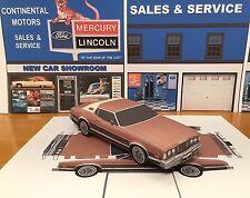 Papercraft 1976 Mercury Cougar XR7 Coupe PaperCar E Z U-build Toy Car
