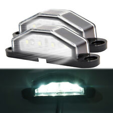 2X LED LICENSE NUMBER PLATE LIGHT LAMP TRUCK CARAVAN TRAILER BOAT LORRY 10-30V