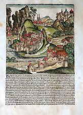 Ungheria Hungaria Pannonia vista Schedel mondo cronaca inkunabel Koberger 1493