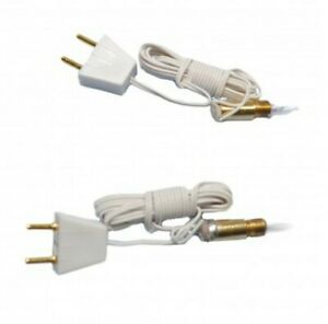 1/12th Scale Dolls House Candle Bulb and Holder. Pack of 2.