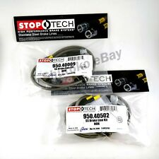 STOPTECH STAINLESS BRAIDED FRONT + REAR BRAKE LINES FOR 02-05 HONDA CIVIC Si EP3
