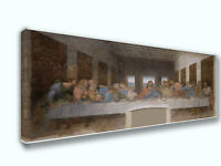 Last Supper Jesus 12 Disciples Panoramic Picture Canvas Print Decor Wall Art