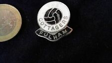 FC Fulham The Cottagers Brosche Football Logo rar Vintage Badge 80s kein Pin