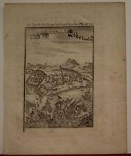 ELMINA CASTLE GHANA 1719 ALAIN MANESSON MALLET ANTIQUE COPPER ENGRAVED CITY VIEW