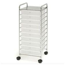 Rollling Drawer Storage Cart Organizer Cabinet 10 Drawers Wheels Craft Box Bins