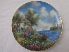 """""""Sea Cliff Cottage """" Country Gardens by Dennis P. Lewan Collector Plate"""
