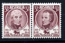 AUSTRALIA 1953 150th ANNIV. OF SETTLEMENT OF TASMANIA SG268/270 BLOCKS OF 4 MNH
