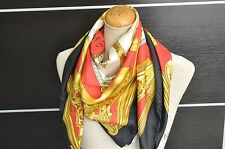 "Authentic HERMES Scarf ""ETRIERS"" Silk Black 32564"