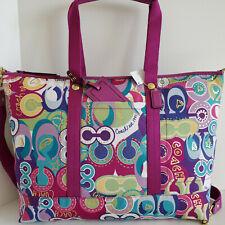 Coach XL Travel Tote Pop C Signature Applique Multicolor Crossbody Bag NWT***HTF
