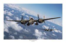 """WWII WW2 USAAF USAF P-38 Lightning Ace Aviation Art Photo Print - 12"""" X 18"""""""