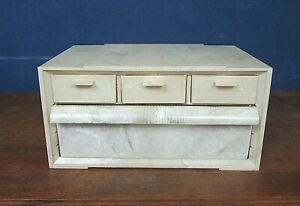 Vintage Sewing/Craft/Jewelry Storage Box with Drawers Lucite Akro-Mills USA