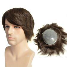Medium Brown Men's Hair pieces Skin PU Toupee Human Hair Replacement Size 8x10''