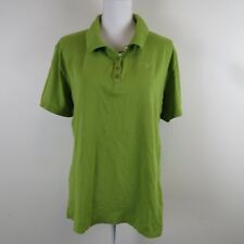 BARBOUR Womens Size 14 Polo Shirt Top Pullover Short Sleeve Green Cotton Knit