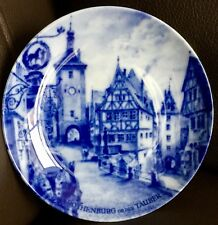 "Signed Kaiser Germany ""Rothenburgh ob der Tauber"" 5.5""/14cm Porcelain Plate"