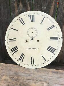 Seth Thomas Large Wall Regulator Clock Dial.