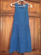 Madewell A8495 Keynote Ponte Blue Dress size Xs