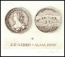 Arpad Muller C2 Exlibris Empress Maria Theresa Schonbrunn Numismatics Petz s37