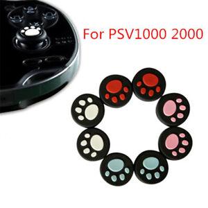 4pcs/Set Cat Paw Analog Stick Cap Thumb Grip Cover for Playstation PSV1000 2000