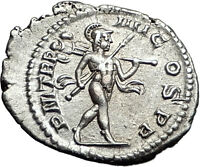 SEVERUS ALEXANDER 225AD Rome NUDE MARS TROPHY Ancient Silver Roman Coin i57980