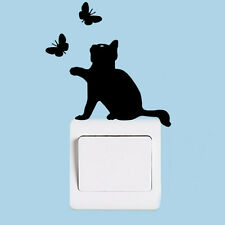 Home Decor Removable Cat Switch Art Vinyl Wall Switch Sticker Decal Mural bid