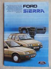 Ford Sierra Turnier 2.0i 2.3d - Bedienungsanleitung Handbuch 05.1985