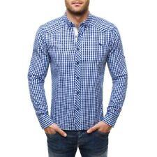 Camisas y polos de hombre de manga larga multicolores color principal azul