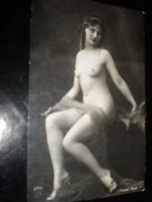 Old postcard nude deco woman pearls French J Mandel Paris 242 c1910s - 1920s