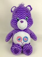 "Care Bears Share Bear Purple Chevron Striped Large 22"" Plush Stuffed Toy 2015"