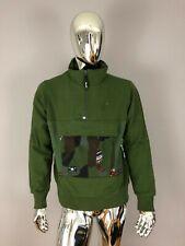 LRG Lifted Research Group Men's Green Color Fleece Sweatshirt Size M