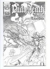 Lady Death: The Crucible #1/2 NM+ 9.6 Cloth Variant with COA Chaos Comics Wizard