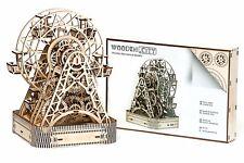 RUOTA PANORAMICA Nuovo di zecca-città in legno 3D meccanico in legno modello & Puzzle