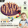 Wooden Memory Match Stick Chess Game Early Educational Learning 3D Puzzle Toy