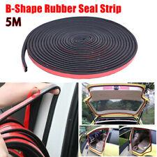 5M B-Shape Car Door Hood Trunk Trim Edge Moulding Rubber Weatherstrip Seal Strip