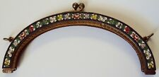 GORGEOUS ANTIQUE MICROMOSAIC GILT PURSE TOP FOR BEADED PURSE