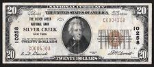 1929 $20   ❀❀ SILVER CREEK, NY ❀❀