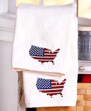 4th July Americana Stars Stripes Towels American Pride Patriotic 2 Hand Towels