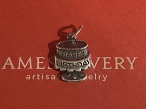 James Avery Happy Birthday Cake Charm Sterling Silver