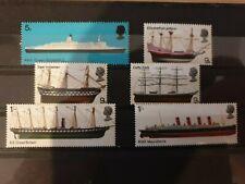 Great Britain 1969 British Ships. 6 stamp set MLH