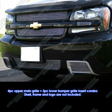 Fits 2006-2009 Chevy Trailblazer SS Aluminum Grille Combo