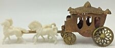 Vintage Plastic White Horse Carriage Wedding or Cinderella Cake Topper Hong Kong