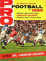 1960 Pro Football magazine, 5th Annual Edition, Experts Size Up NFL Race! ~ Good