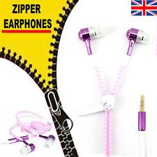 Zipper Earphones Hand-free Built-in Micro phone 3.5 mm jack Earphones apple Sony