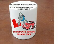 PERSONALISED DRIVING LESSONS FUND MONEY BOX CERAMIC CAR DRIVE GIFT SAVE BANK POT