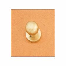 Button Stud 10mm Screwback Brass 11311-53 by Tandy Leather