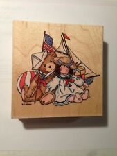New Cherished Teddy Liberty Sailor Bear Rubber Stamp P Hillman Stampendous TW002