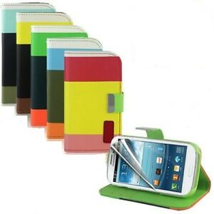 PU LEATHER WALLET COVER CASE S4 mini i9190 Samsung Phone