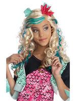 Licensed Child Lagoona Blue Wig Fancy Dress Monster High Halloween Costume Kids